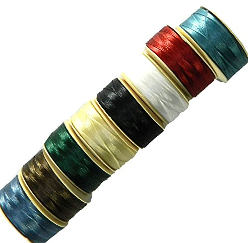 Nymo Nylon Seed Bead Thread Sized (8 Bobins 64 Yards Each) D 0.012 Inch 0.34mm Mixed Colors