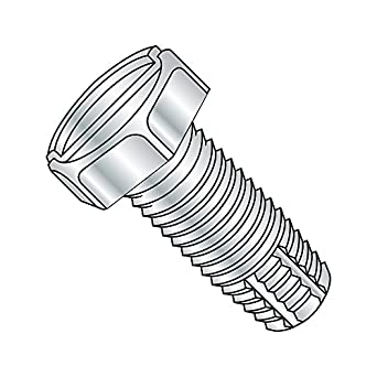 #2-56 Thread Size Small Parts 0207FSP Pack of 100 7//16 Length Slotted Drive Pack of 100 Pan Head Zinc Plated Finish Type F 7//16 Length Steel Thread Cutting Screw
