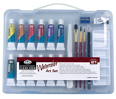 Royal & Langnickel Essentials Clear View Watercolor Painting Set, Small