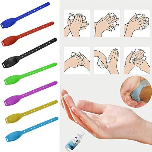 Kairaley Hand Sanitizer Dispenser Adjustable Wristband Wearable Dispenser,1 Re-fillable Beak Bottle for Adults Kids