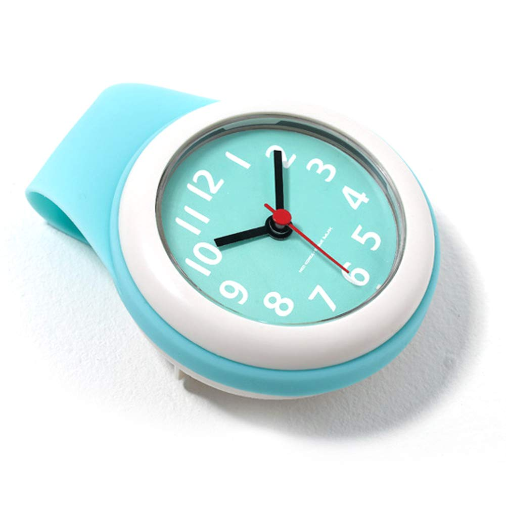 Neo Waterproof Bathroom Shower Clock Analog, 4 inch, Small, Mint by NEO Products