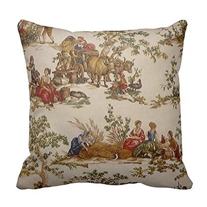 Amazon French Country Toile Print Mojo Throw Pillow Case 40 40 Stunning Toile Decorative Pillows