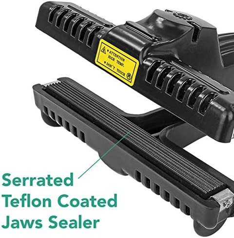 KF-Constant Heat Bag Sealer for Mylar Bags 2 Heat Settings, Black