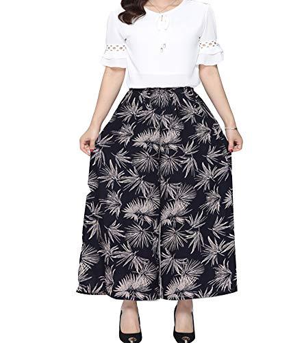 Casual Forti Vita Gambe 22 Lungo Taglie Pantaloni Larghe Donne Alta Morbido Eleganti 4q1SZ