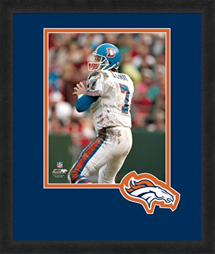 NFL Denver Broncos John Elway 8x10-Inch Full Color Logo Mat Photograph, Orange