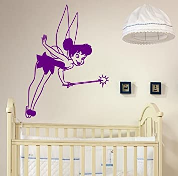 Magic Fairy Tinkerbell Kinder Kinderzimmer Wandtattoo Violett