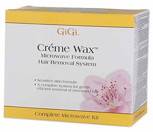 (Gigi Creme Wax Microwave Kit, 16 Ounce )