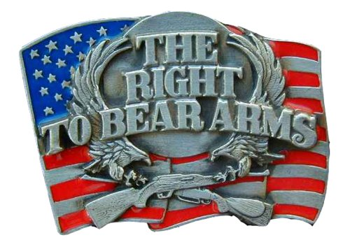 Bear Arms Belt Buckle (The Right To Keep And Bear Arms Colored Novelty Belt)