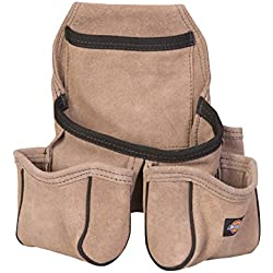 Dickies Work Gear 57029 Tan Leather 4-Pocket Tool Pouch