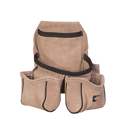 Soft Leather Tool Pouch - Dickies Work Gear 57029 4-Pocket Leather Tool Pouch