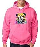 Bulldog Lover I Love Bulldog Hoodie Cute Bulldog Dog Mom Dog Dad Sweatshirt Safety Pink 521