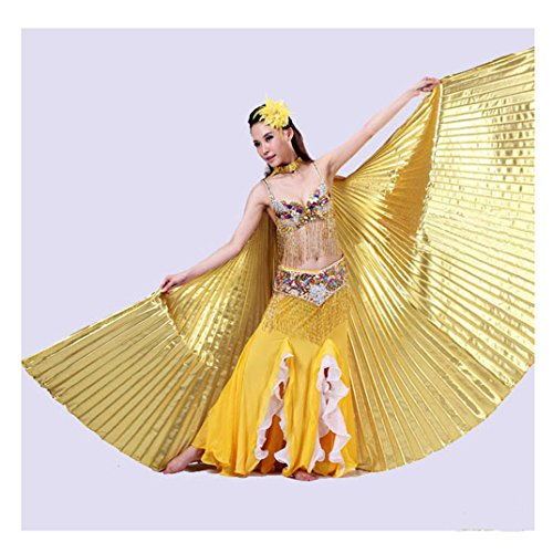 Dance Material For Costumes (Gotd Belly Dance Costume Wings Dancing Wings (Gold))