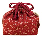 Hakoya Drawstring Bag Red Cherry Purse 53 764 by Ya Tatsumi