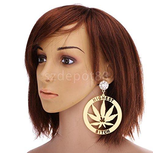 1 Pair Novelty Letter Long Dangle Earrings Acrylic Ear Studs Women Jewelry Marijuana Earrings