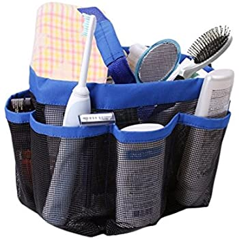 Quick Dry Hanging Toiletry And Bath Organizer With 8 Storage Compartments,  Shower Tote, Mesh