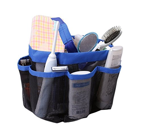 Mayin Quick Dry Hanging Toiletry and Bath Organizer with 8 Storage Compartments, Shower Tote, Mesh Shower Caddy, Perfect Dorm, Gym, Camp & Travel Tote Bag, Black
