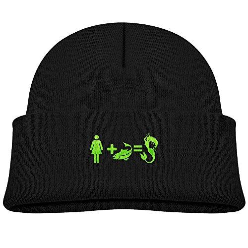 Camo Evolution (Mermaid Evolution Unisex Kids Beanie Caps Black)