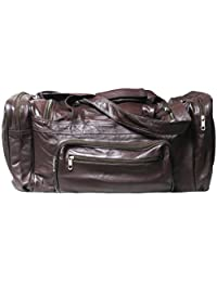 Genuine Leather Cowhide Sports Bag, Travel / Duffel Bag # 9520