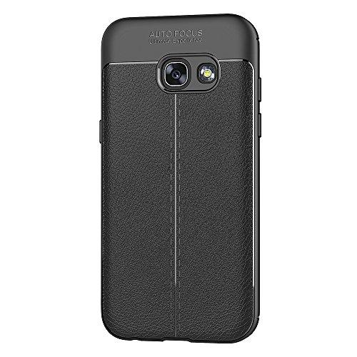 Funda Samsung Galaxy A3 2017, AICEK Galaxy A3 2017 Funda Negro Gel de Silicona Samsung A3 2017 Carcasa Funda (4,7 Pulgadas SM-A320F)