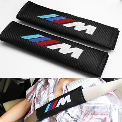 Cinturón de Seguridad de carbono Pads con M Power Emblema bordado ...