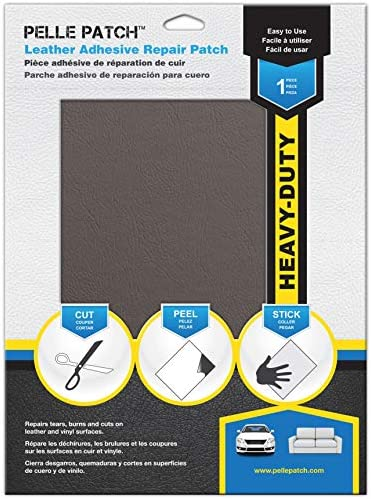 Pelle Patch Cream 25 Colors Available Leather /& Vinyl Adhesive Repair Patch Heavy-Duty 11x16