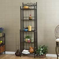 Celtic Rack Gunmetal Baker Finish New Shelf Home Kitchen Storage Shelves Gun Metal