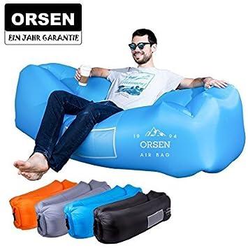 ORSEN Aire sofá Hinchable Lazy Lounger Air sofá Bed con con ...