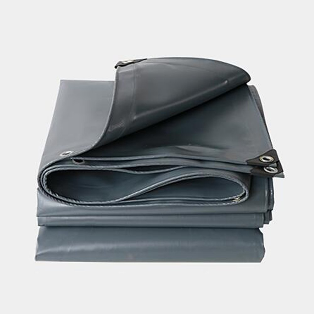 YANGFEI 防水シート タープカバーシルバー/ブラックヘビーデューティ厚い素材、防水、ターポリンキャノピーテント、ボート、RVまたはプールカバーに最適 耐久性に優れています B07F6RLSMN  Gray 6*10cm