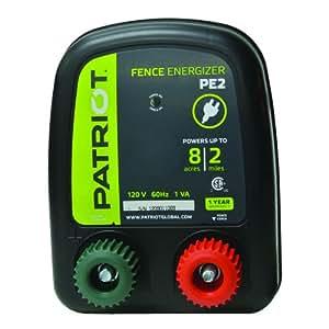 Patriot PE2 Electric Fence Energizer, 0.10 Joule