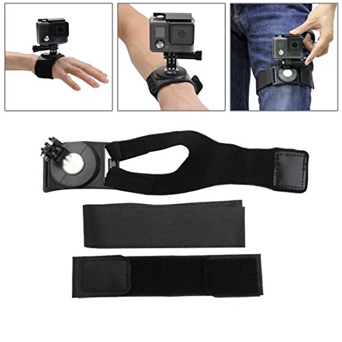 JointVictory 3-in-1 Hand Wrist Arm Leg Straps 360-degree Rotation Mount for GoPro HERO 6/5/4/3+/3/2/1 SJ4000 and Other Action Camera
