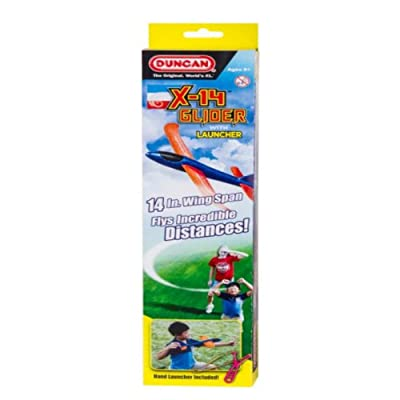 "Duncan X-14 Glider with Launcher - 14"" in Wing Span - Easy to Assemble (Orange Body): Toys & Games"
