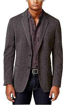 Calvin Klein Slim-Fit Charcoal Neat Two Button New Men's Sport Coat