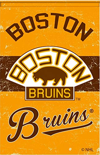 Boston Bruins EG Vintage Garden Flag Premium 2-Sided Retro House Banner Hockey
