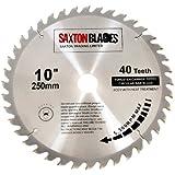 Saxton Lame de scie circulaire TCT 250 mm x 30 mm x 40 t pour Bosch, Makita, etc.