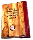 Olive Wood Millennium Bible with 'Incense' ~ Red-letter King James Version of the Old and the New Testament
