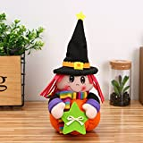 Lanlan Plush Halloween Pumpkin Girl Dolls Novelty Stuffed Toy for Birthday Gift Home Decor Party Holiday Decoration Type B