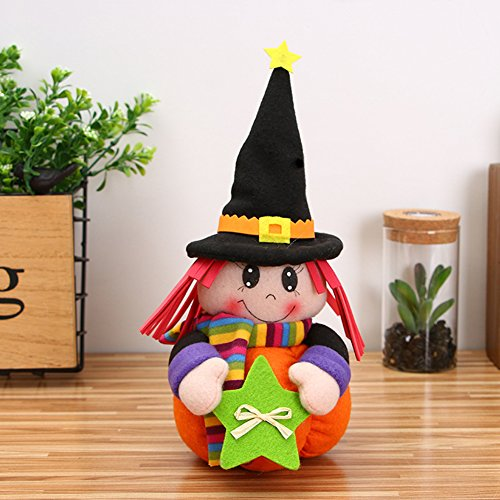 Lanlan Plush Halloween Pumpkin Girl Dolls Novelty Stuffed Toy for Birthday Gift Home Decor Party Holiday Decoration Type B by Lanlan