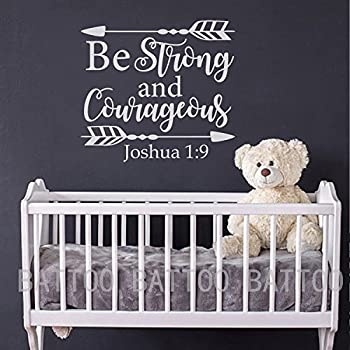 Amazoncom Battoo Joshua 19 Be Strong And Courageous Nursery
