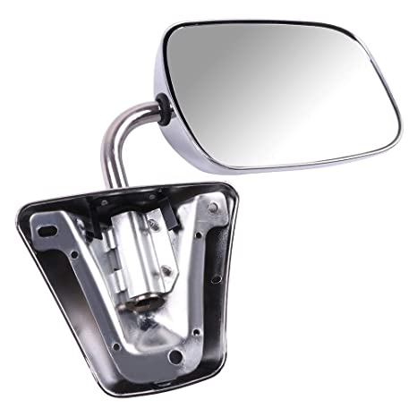 Manual Side View Stainless Steel Mirrors Pair Set Replacements for GMC Chevrolet Pickup Truck SUV Van 996220