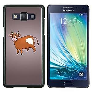 LECELL--Funda protectora / Cubierta / Piel For Samsung Galaxy A5 A5000 -- Vaca de Brown Agricultura Animal Derechos Dibujo --