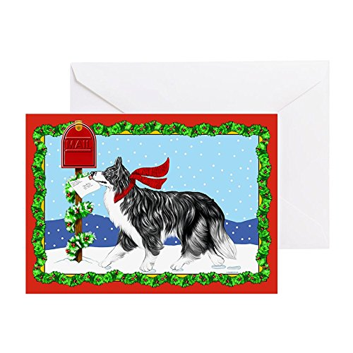 CafePress - Border Collie Mail - Greeting Card, Note Card, Birthday Card, Blank Inside Glossy