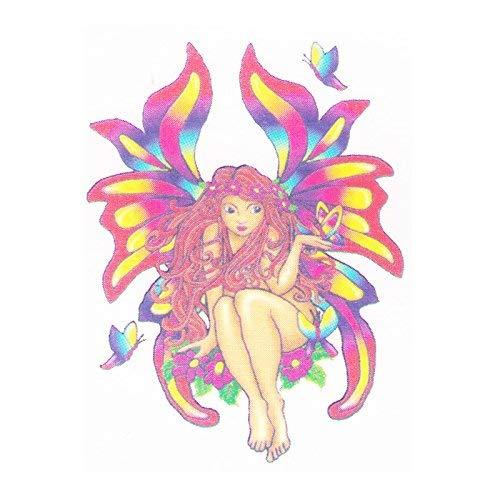 (Fairy temporary tattoo | Fairies Fake removable tattoos & temp tatto designs | Tatoo decal party stickers ideas. Last 2-5 days & go on with water. Removeable party sticker decals)