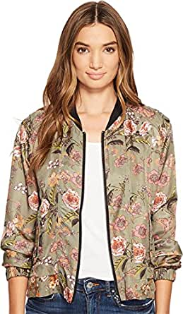 Blank NYC Women's Printed Bomber in Sun Chaser Sun Chaser Outerwear