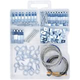 Picture Hangers Assortment Kit, Can be Ideal for Hanging Clock, Paintings, Artwork, Picture Frame Hook, Photos, Mirrors, Canvas, Includes Hooks, Nails, Sawtooth Hangers, and Picture Hanging Wire