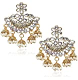 YouBella Stylish Party Wear Traditional Jewellery Gold Plated and Pearl Jhumkis Earrings for Women (Golden)(YBEAR_32069)