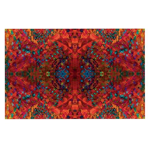 "Kess InHouse Nikposium ""Red Sea"" Orange Abstract Decorative Doormat, 24 by 36-Inch"