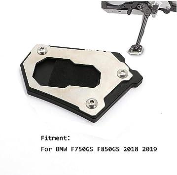 Color : Black For F850GS 2018 2019 Motocicleta Lateral de Aluminio Soporte de la Placa de extensi/ón del coj/ín de la ampliaci/ón de la ampliadora con el Logotipo F850 GS