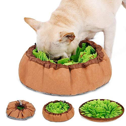 LIVACASA Schnüffelteppich Hunde Schnüffelrasen Waschbar Faltbar Riechen Trainieren Matte rutschfest Schadstofffrei…
