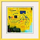 Hollywood Africans, 1983 Framed Giclee Poster Print by Jean-Michel Basquiat, 23x23