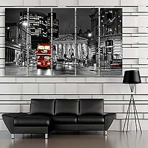 Reloj de pared rectangular VV Retro lona 24x 70cm (10inchx28inch) X5Pcs/30x 90cm (12inchx36inch) X5Pcs, 28X9